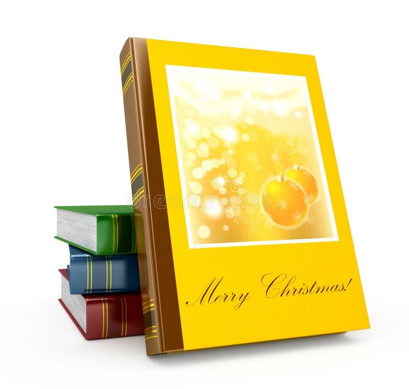 3d rendem o livro de Natal em um fundo branco ilustração royalty free