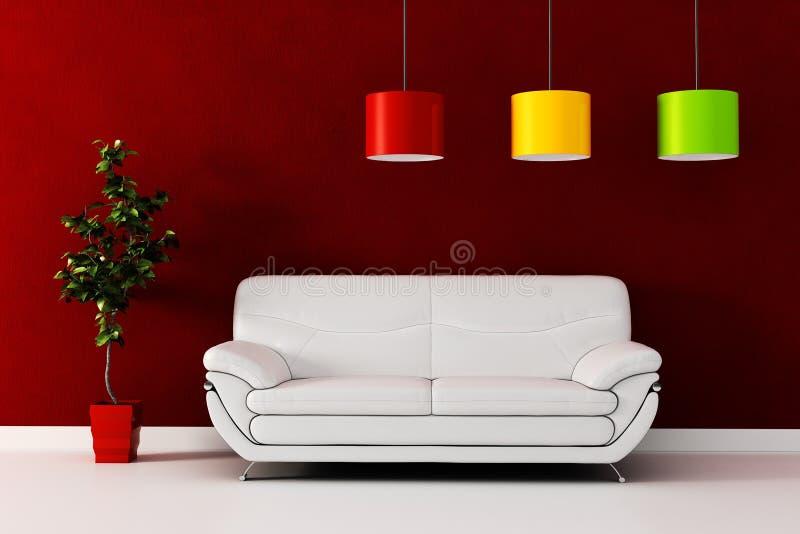 3d rendent d'une conception intérieure moderne. illustration stock