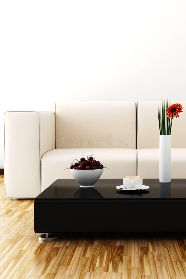 3d rendent d'une salle intérieure moderne illustration stock