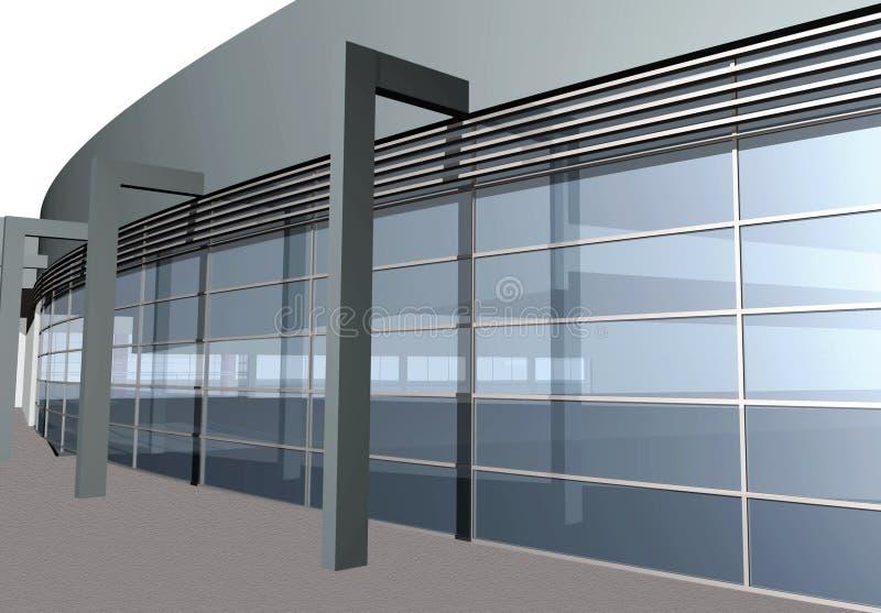 3D rendent de la construction moderne, plan rapproché illustration stock