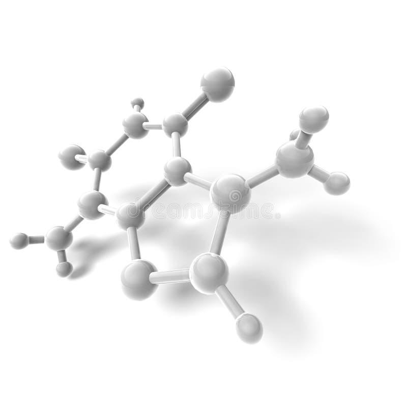 3D rendent de la molécule illustration libre de droits