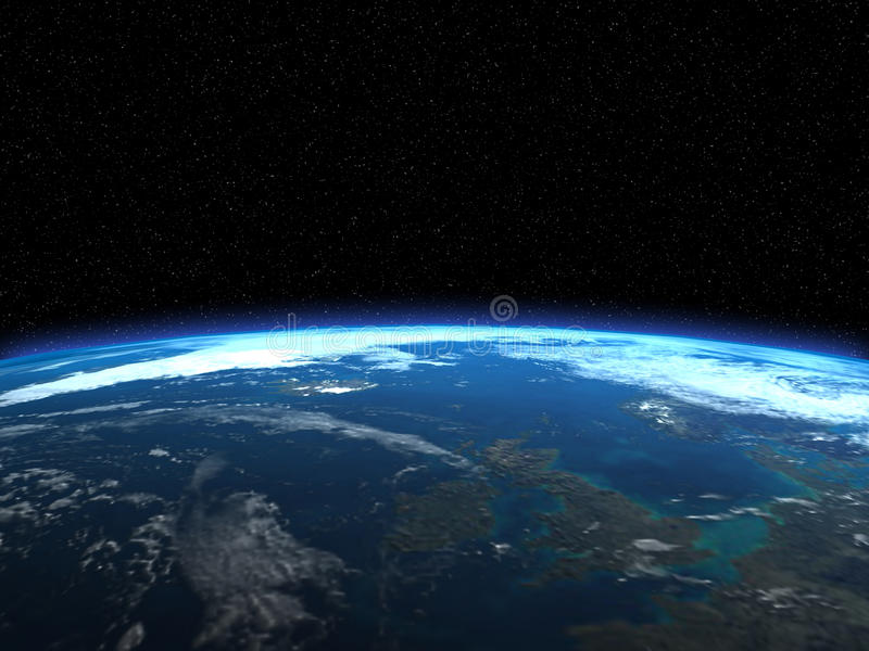 3d rendent de la terre de planète illustration libre de droits