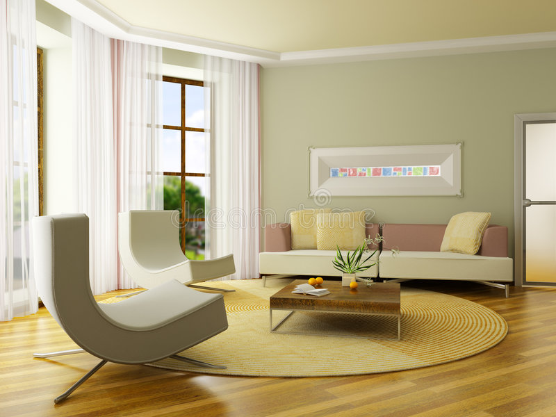 3D rendent l'intérieur photo stock
