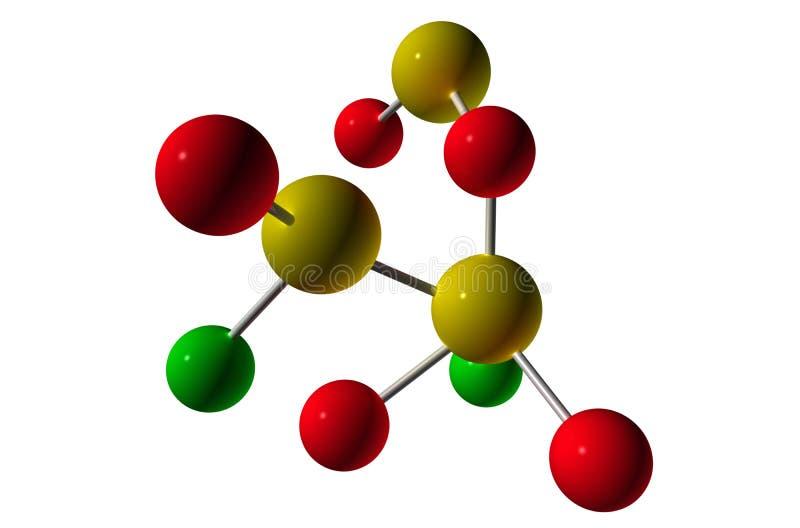 3D rendent la molécule illustration libre de droits
