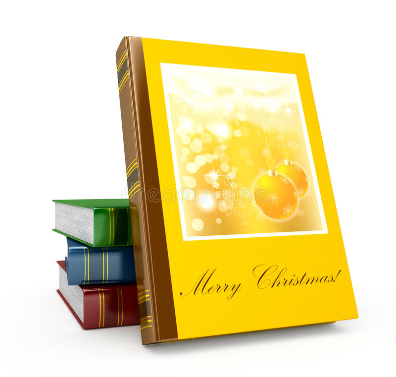 3d Render Christmas Book On A White Background Stock Photography