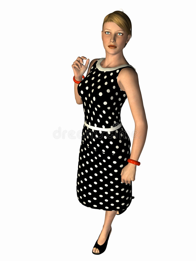 3D Render Contemporary Woman royalty free stock images
