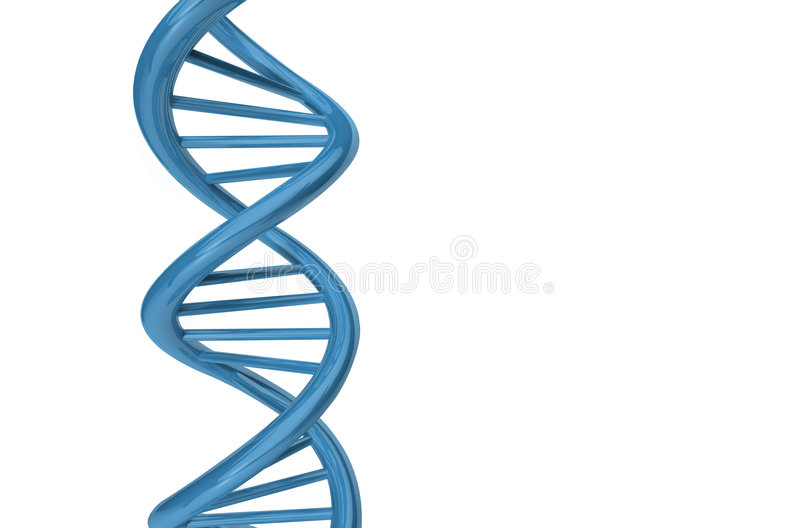 3D Render DNA Strand royalty free stock photography