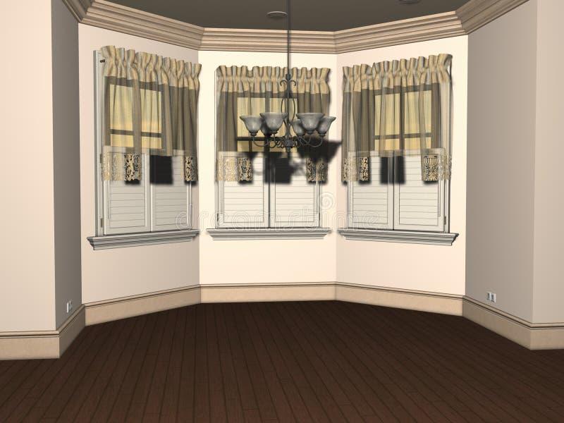 3D render of Empty Breakfast Nook royalty free stock photo