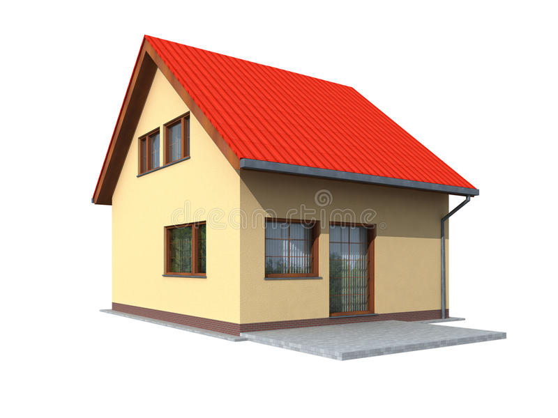 Download 3d Render Of House Stock Photography - Image: 23807832