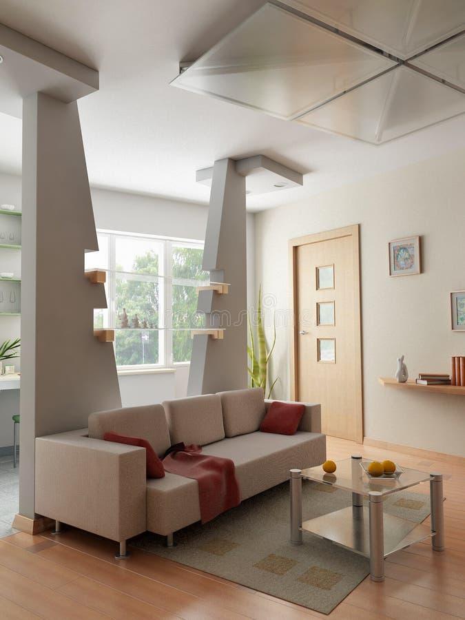 Download 3D render interior stock illustration. Illustration of minimalism - 1607836
