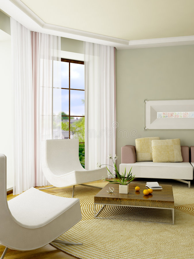 3D render interior stock photos