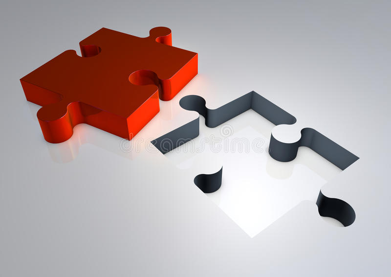 Download 3d Render Of Jigsaw Puzzle Solution Stock Illustration - Image: 27230094
