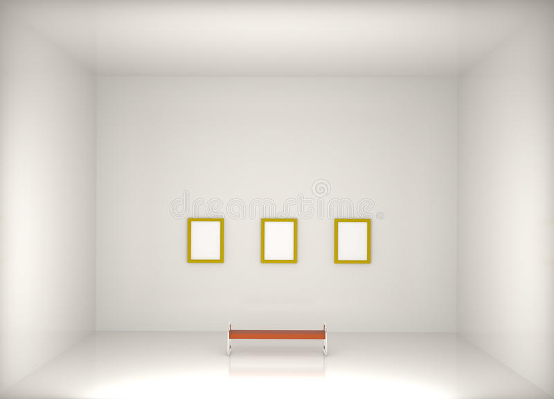 Download 3d Render Modern Art Gallery Royalty Free Stock Photography - Image: 14217467