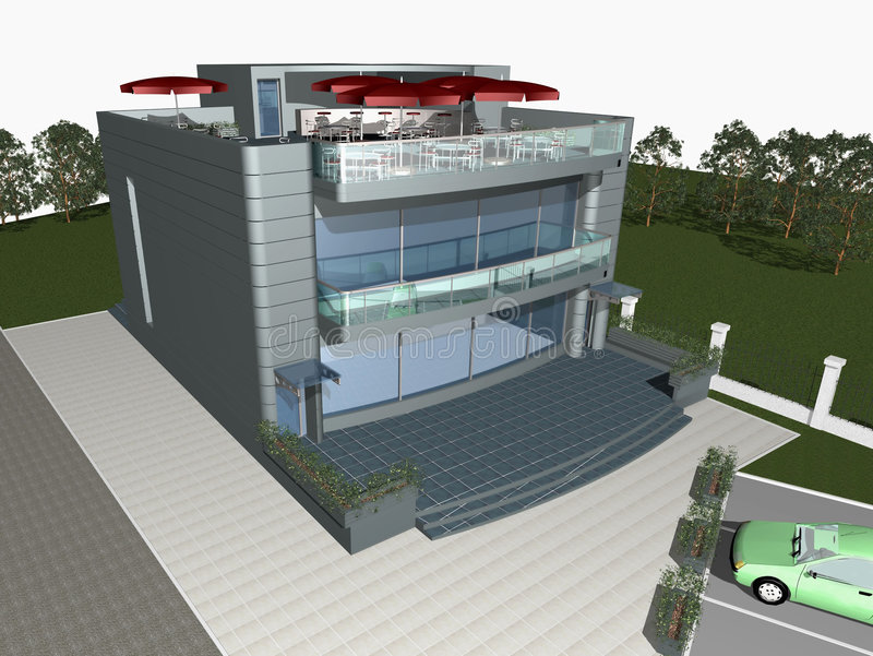 3d render of modern house stock illustration