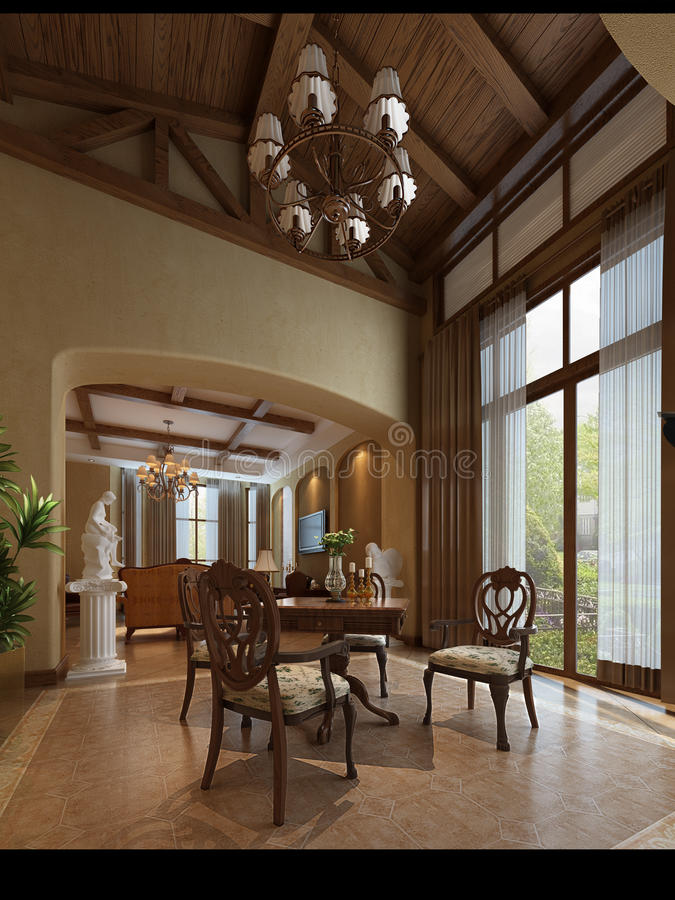 3d render modern interior royalty free stock images