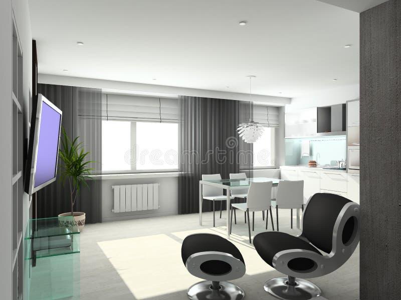 Download 3D Render Modern Interior Of Living-room Stock Image - Image: 4703189