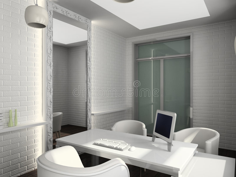 modern interior office stock. Download 3D Render Modern Interior Of Office Stock Illustration - Glass, Black: F