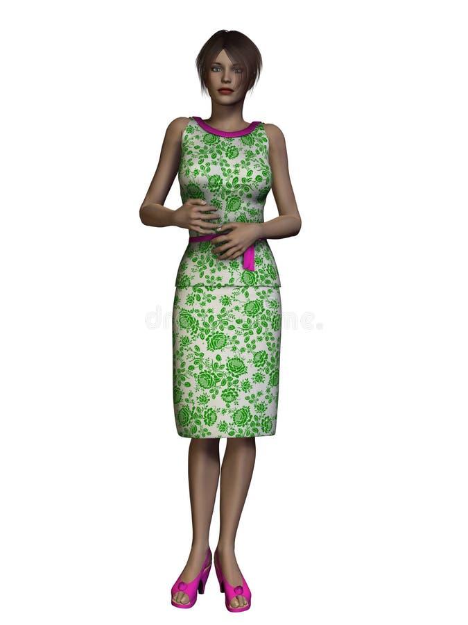 3D Render Modern Woman stock illustration