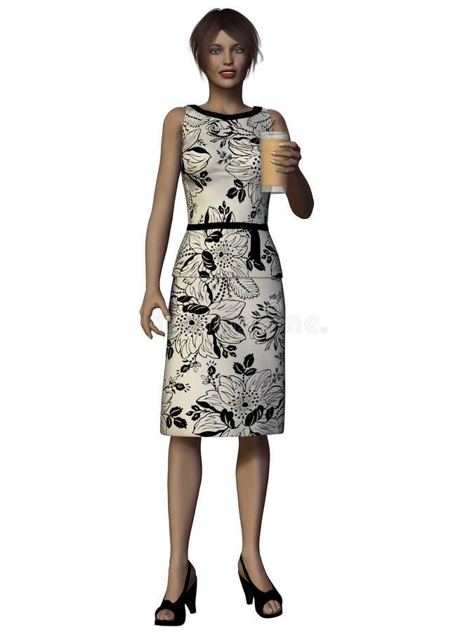3D Render Modern Woman stock photos