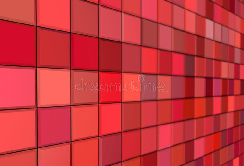 3d render mosaic red pink wall vector illustration
