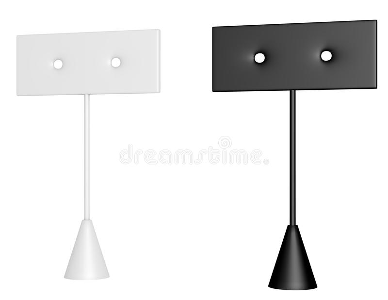 Download 3d Render Of A Pair Of Earring Stands Royalty Free Stock Images - Image: 28290059