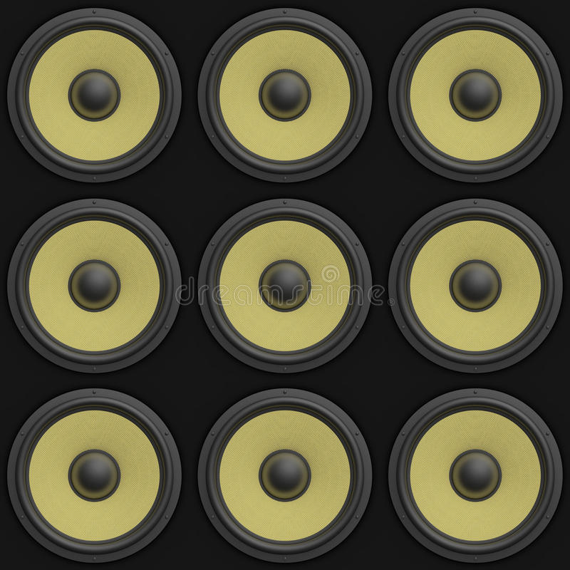 Download 3d Render Of A Tile Able 3x3 Array Of Speakers Stock Illustration - Image: 18016676