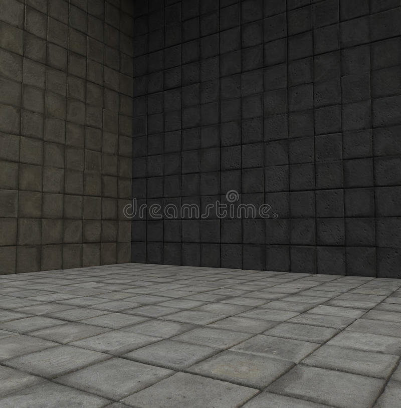 Download 3d Render Tiled Stone Empty Space Stock Illustration - Image: 19753392