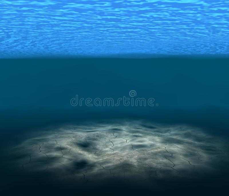 3d render underwater royalty free illustration