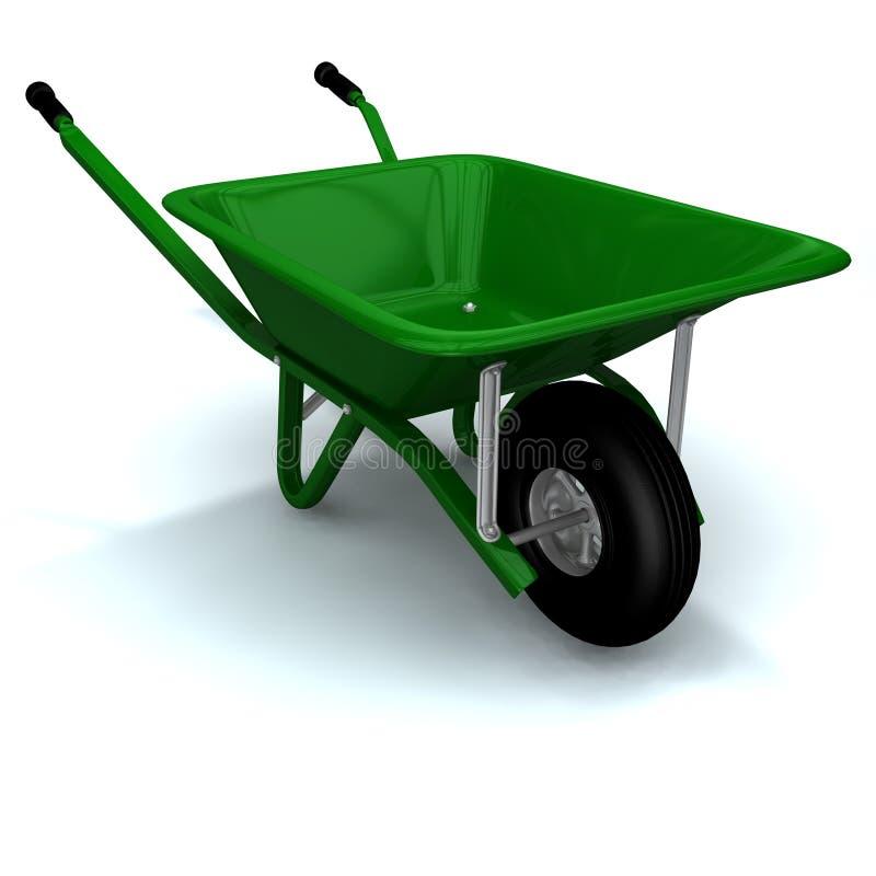 A 3D render of a wheelbarrow vector illustration