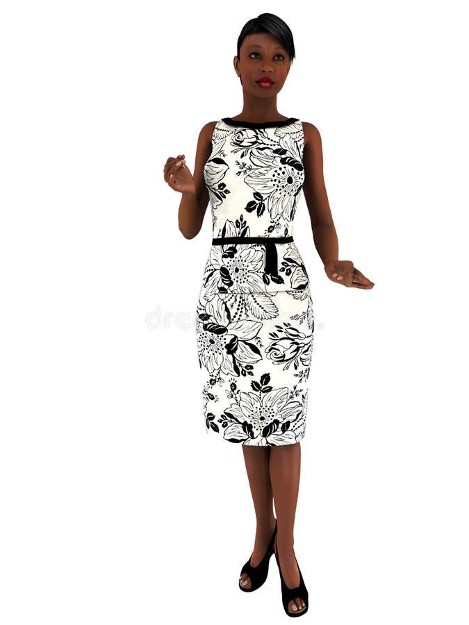 3D Render Woman in Conversation stock illustration