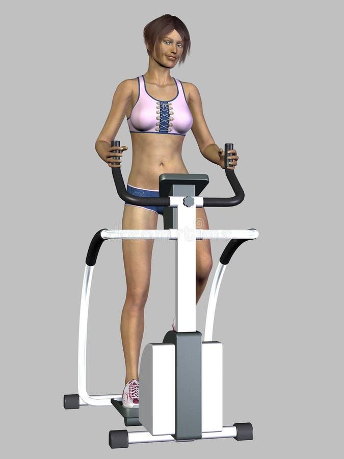 Download 3D Render Woman Exercising stock illustration. Illustration of creative - 10912417