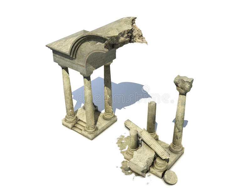Download 3D Rendered  Ancient Temple Ruins Stock Illustration - Image: 22884347