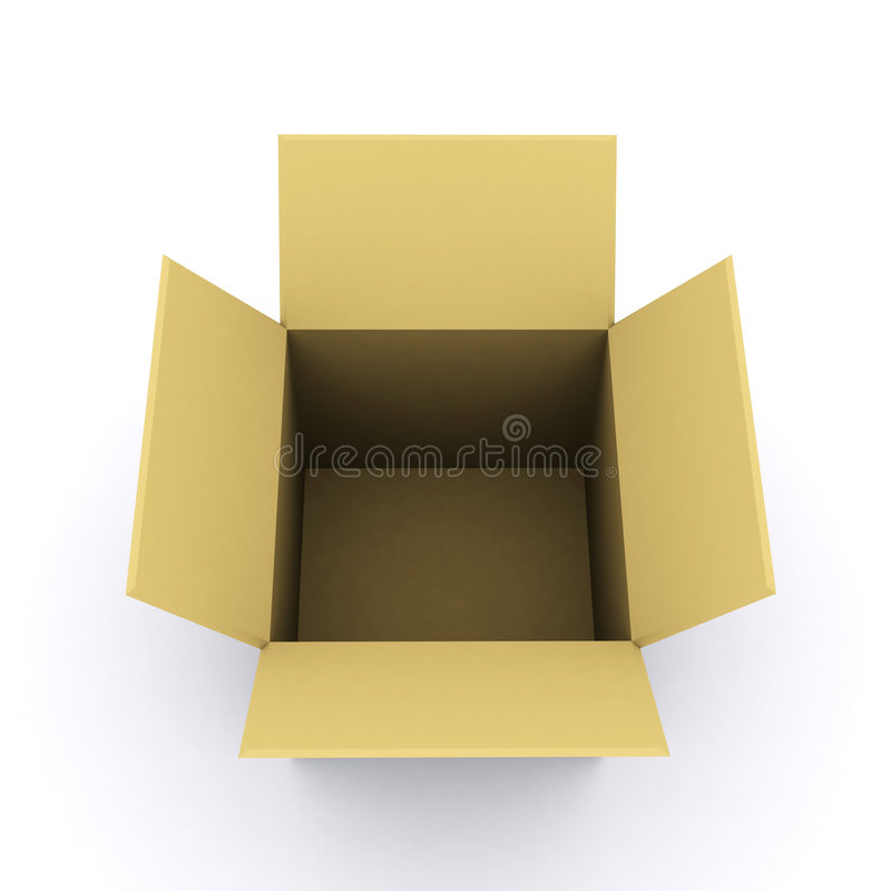 3d rendered box royalty free stock image