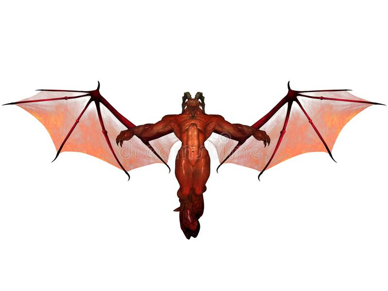 3D rendered demon. 3D rendered fantasy demon isolated on white background vector illustration