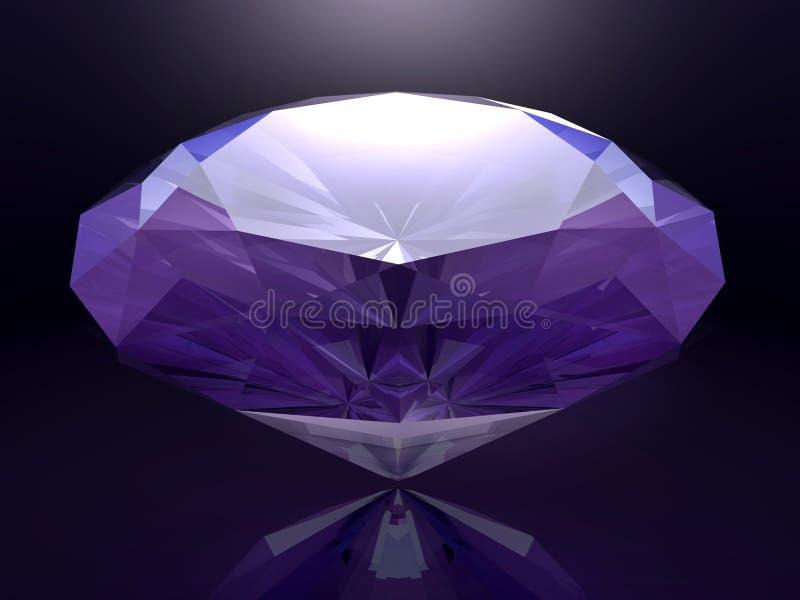 3D rendered diamond royalty free illustration