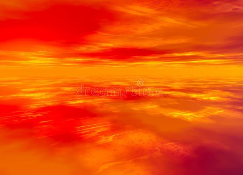 3d Rendered Distant Skyscape. Horizon stock illustration