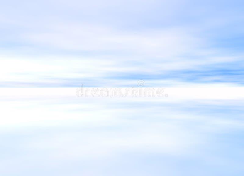 3d Rendered Distant Skyscape. Soft Light Blue 3d Rendered Distant Skyscape Horizon stock illustration