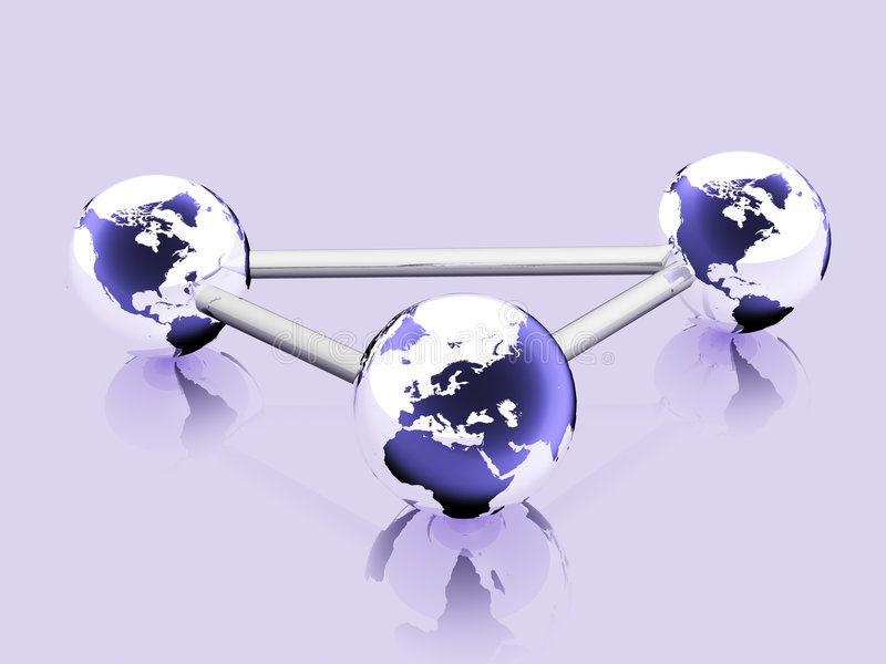 3d rendered earth. A network concept stock photos
