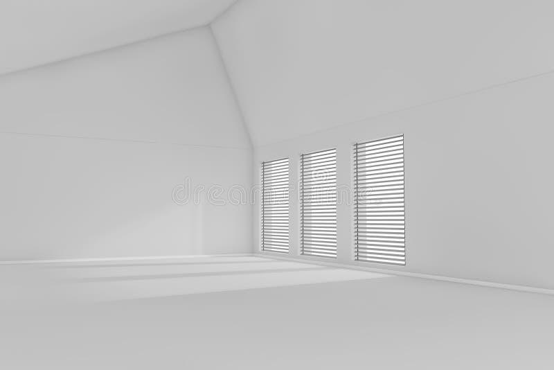 Download 3d rendered empty room stock illustration. Image of room - 17498207