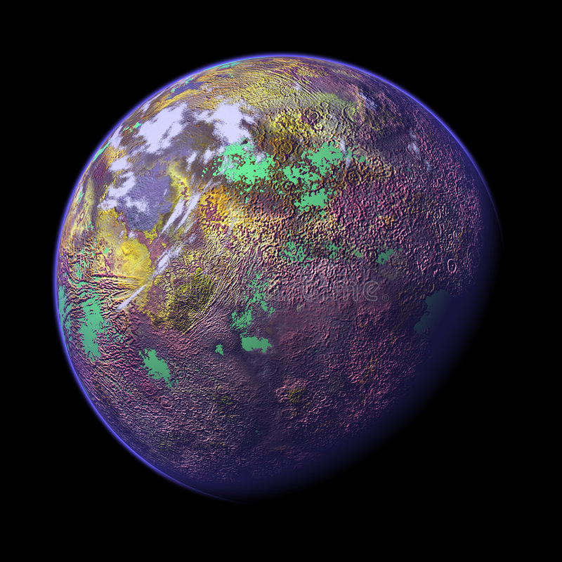 Free 3d Rendered Planet 1 Royalty Free Stock Photography - 1298637