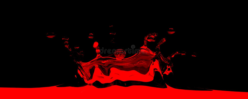 Download 3D rendered red splash stock illustration. Image of paint - 14258644