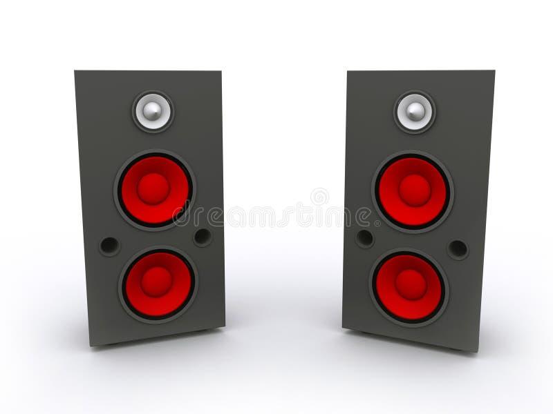 3D Rendered  Speaker Set Stock Photos