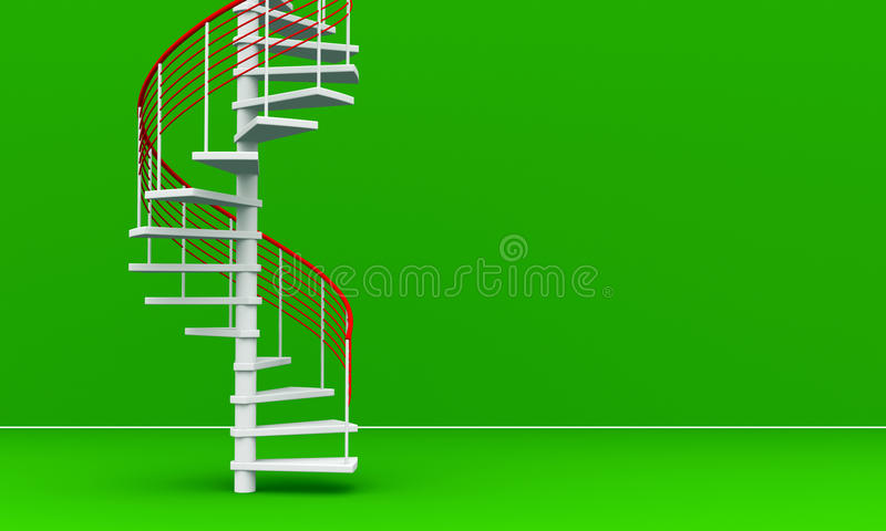 3D rendered Stairs royalty free stock images