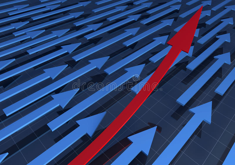 3D rendering of arrows stock photos