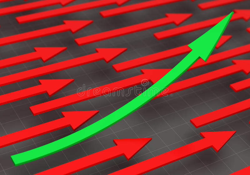 3D rendering of arrows royalty free stock photo