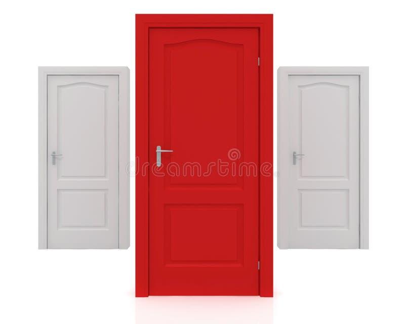 Download 3d rendering of a door stock illustration. Image of career - 26989595