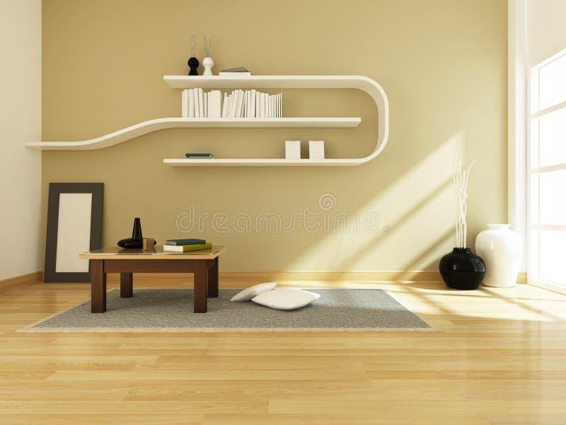 3d rendering of interior modern room vector illustration