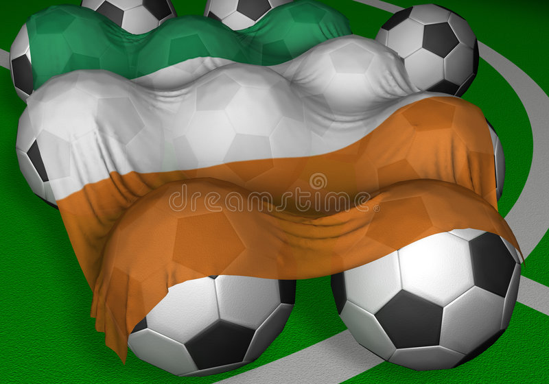 Download 3D-rendering Ivory Coast Flag And Soccer-balls Stock Illustration - Illustration: 798558