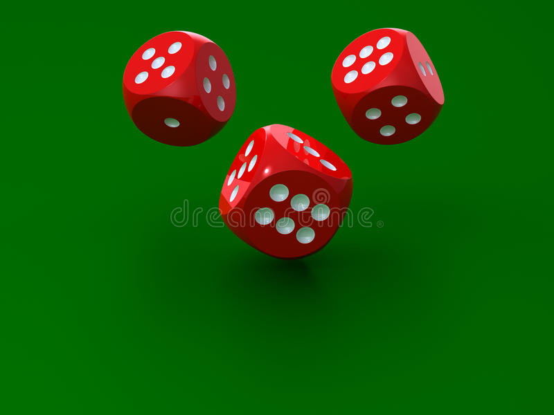 Download 3D rendering of redl dices stock illustration. Image of roll - 11675475