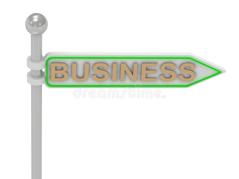 3d Rendering Of Sign With Gold Stock Photo